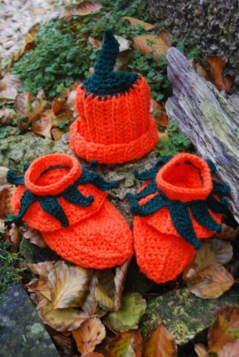 Cute Pumpkin hat and Booties