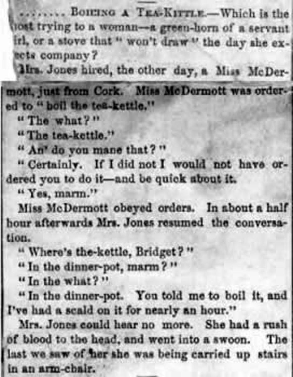 Victorian Newspaper article on boiling a kettle
