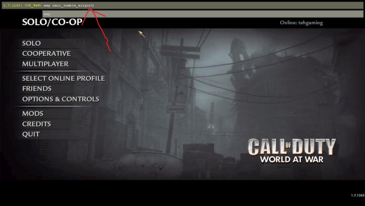 Type in the code after pressing the ` key on your keyboard. (map nazi_zombie_(whatever the map is called) Then press enter.