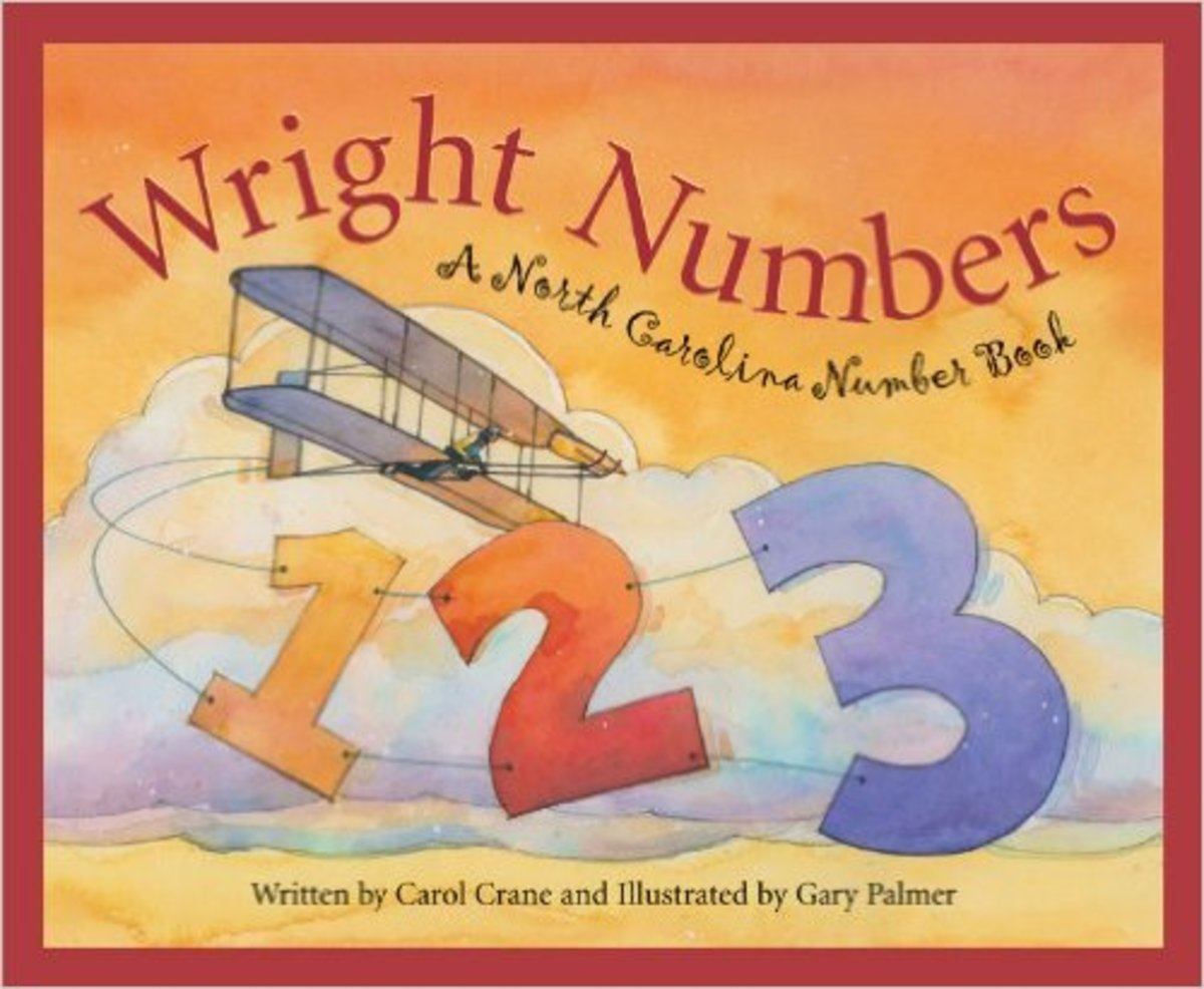 Wright Numbers: A North Carolina Number Book (America by the Numbers) by Carol Crane - Image credits: amazon.com