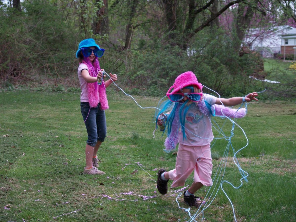 Silly string can be fun to play with, but can damage cars if allowed to stick and dry.