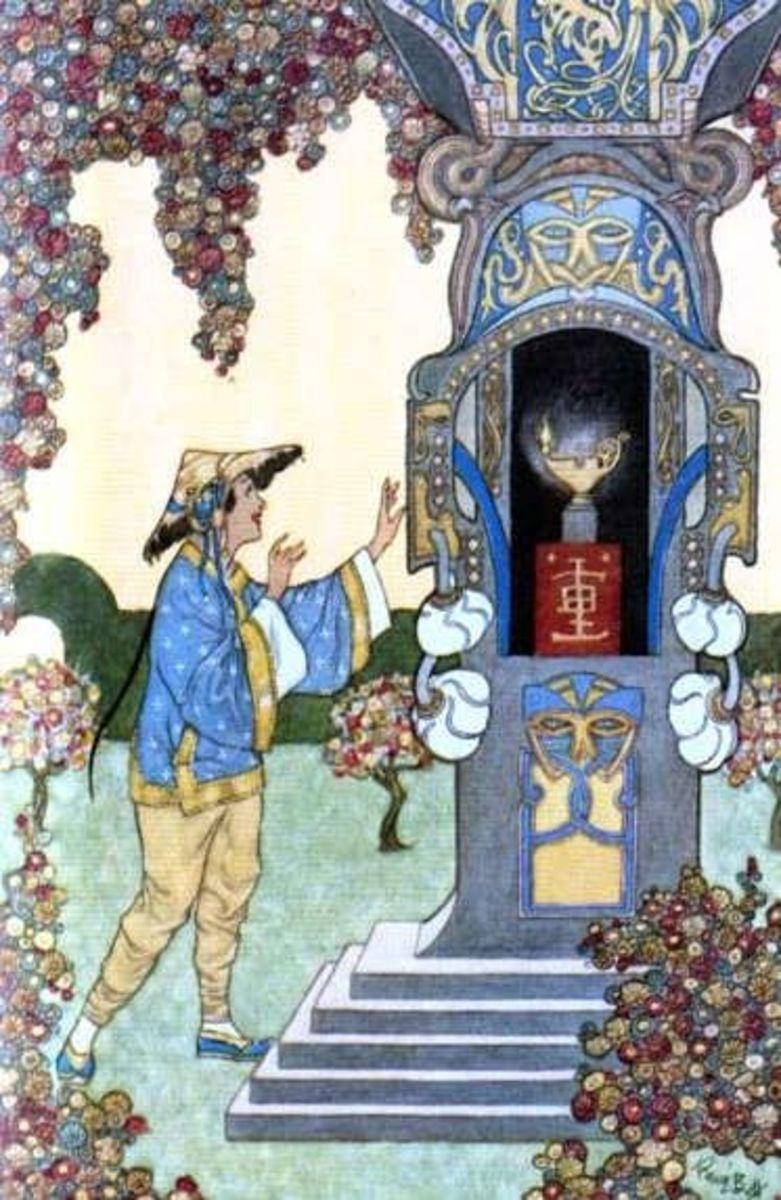 Scene from Aladdin, by Rene Bull