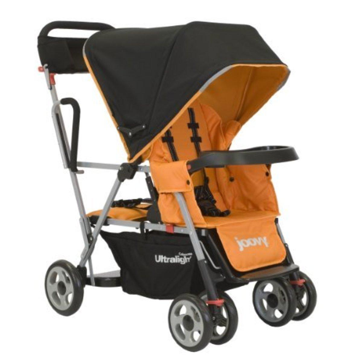 Joovy Caboose Ultralight Stand On Tandem Stroller, Orangie