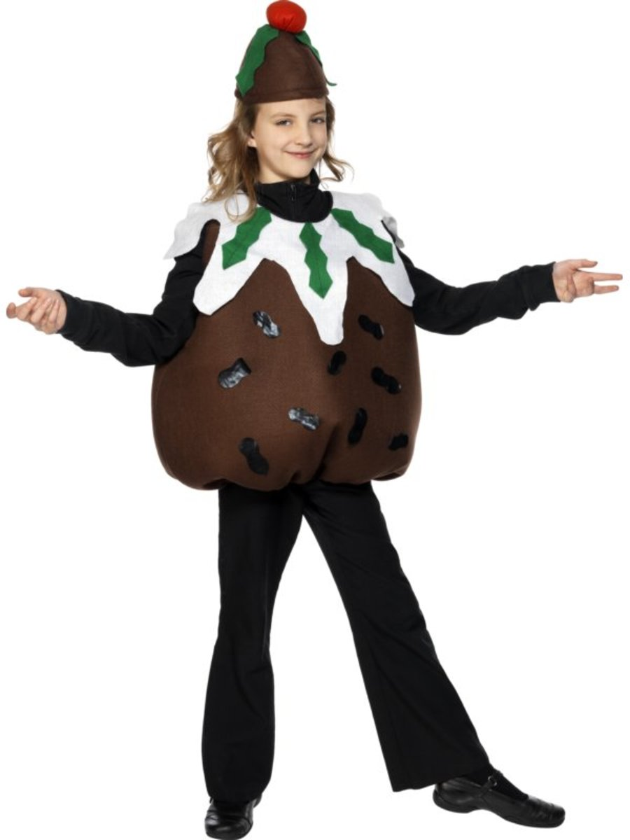 Girl in Plum Pudding Costume
