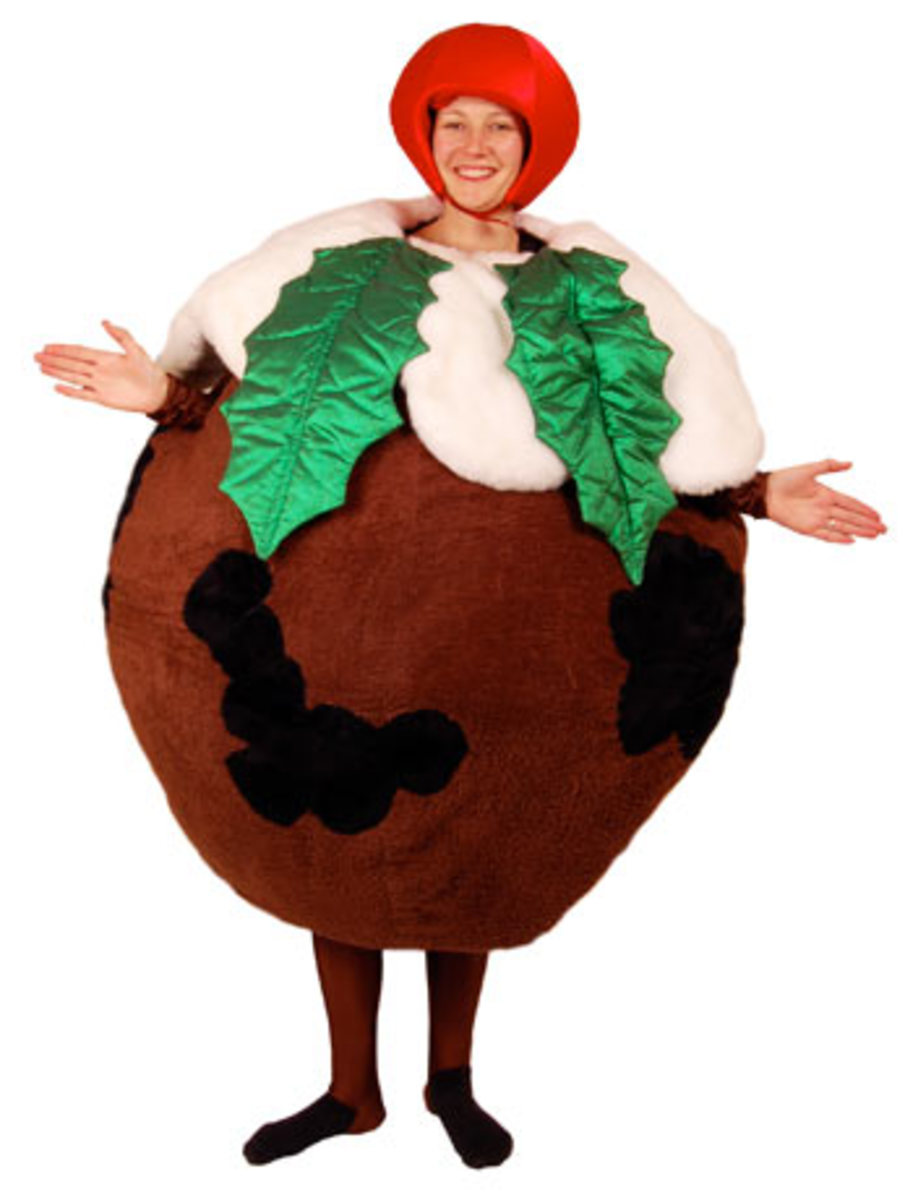 Round Plum Pudding Costume