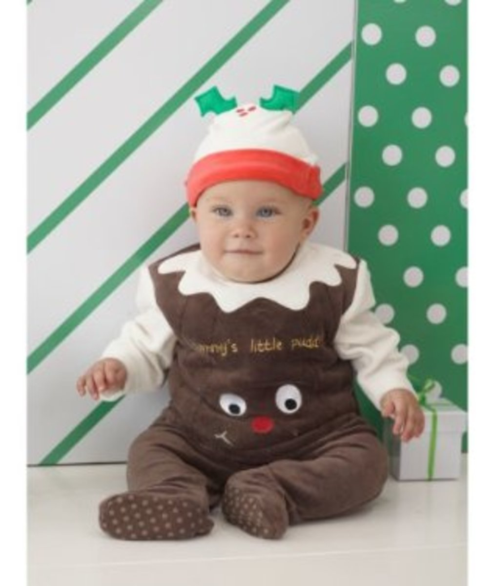 Christmas or plum pudding costumes and dresses