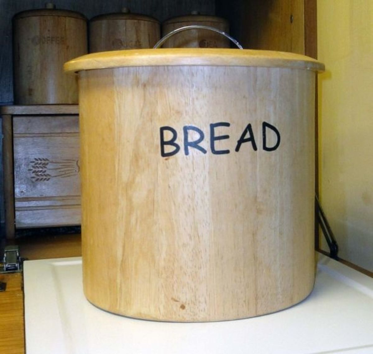 Wooden Breadbins