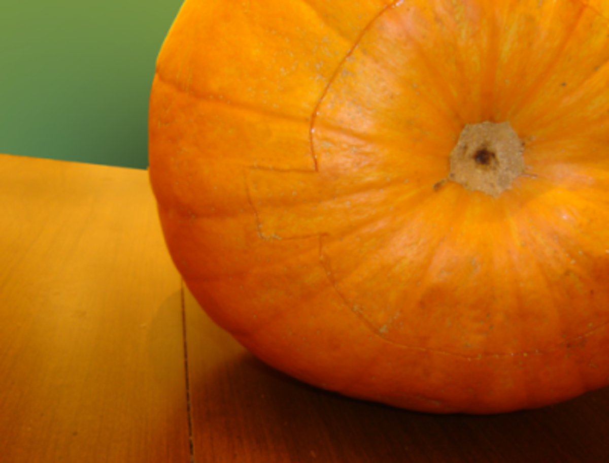 Cut a notch in the hole of your pumpkin, so you can easily line it back up.