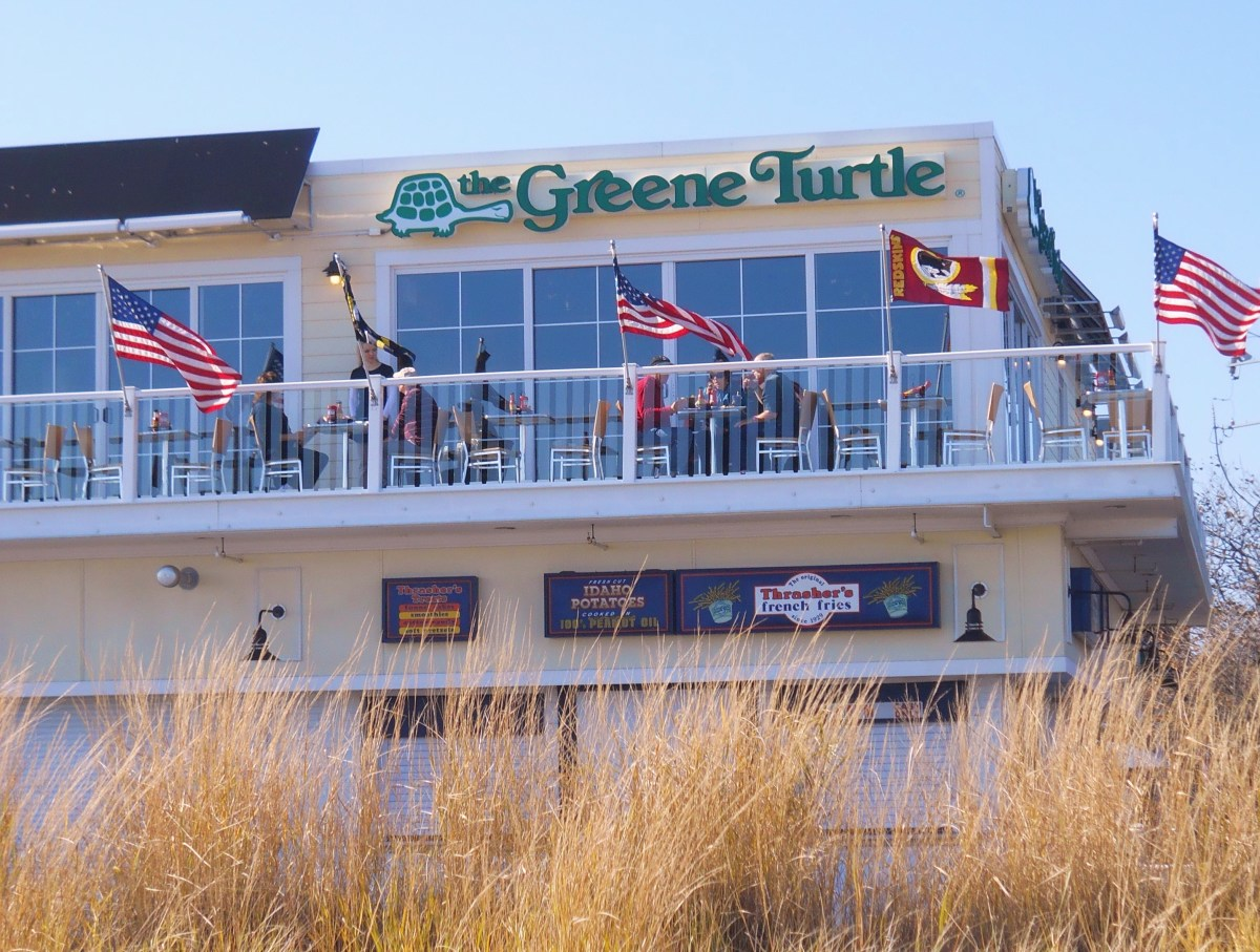 The Greene Turtle as seen from beach.