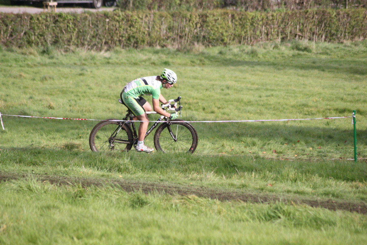 A rider from Ashfield RC take from a distance while cyclocross racing
