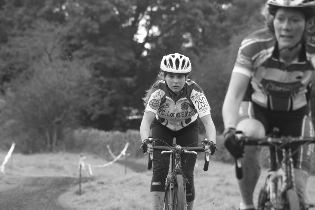 Monochrome works well with winter cyclocross racing