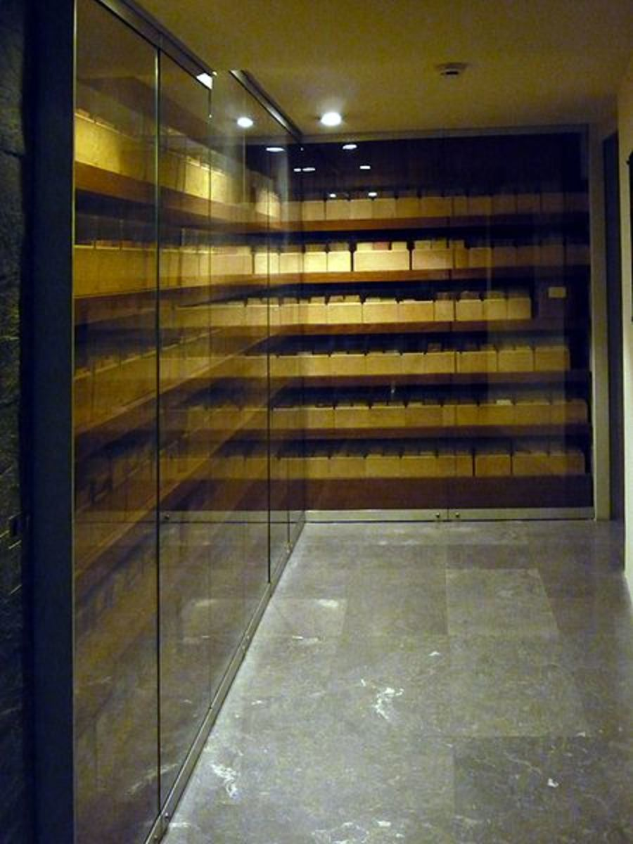 Photo of the Jewish Registry at the Mémorial de la Shoah (Shoah Memorial), at 17 rue Geoffroy l'Asnier, 75004 Paris