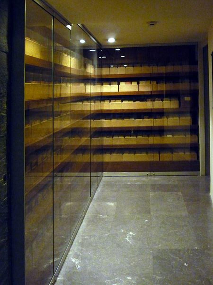 Photo of the Jewish Registry at the Mémorial de la Shoah (Shoah Memorial), at 17 rue Geoffroy l'Asnier, 75004 Paris