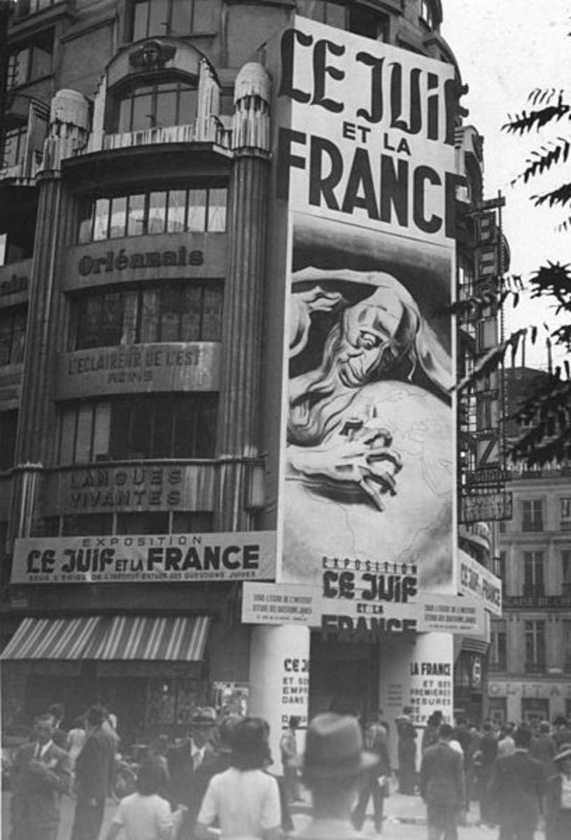 Propaganda exhibit : The Jew and France. September 1941