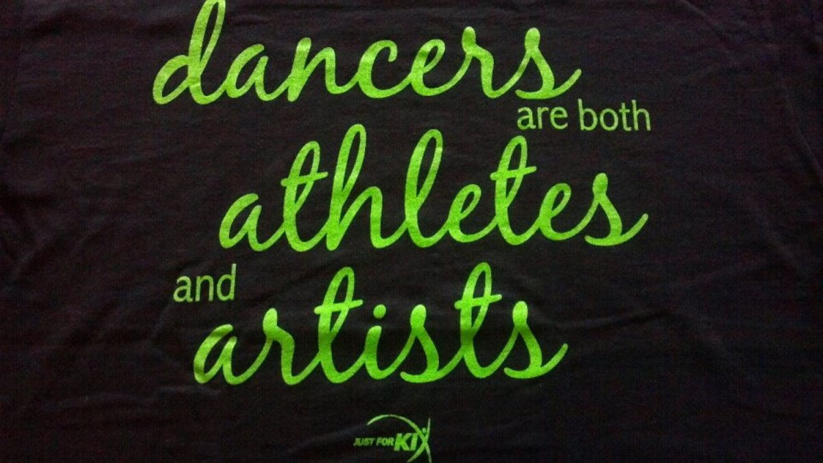 Dancers are both athletes and artists
