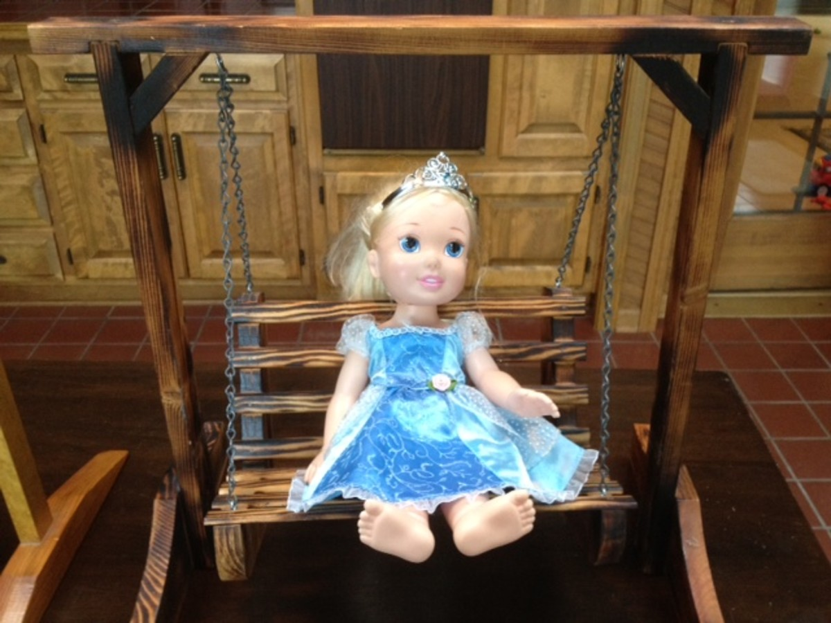 Display your dolls proudly with a mini porch swing!