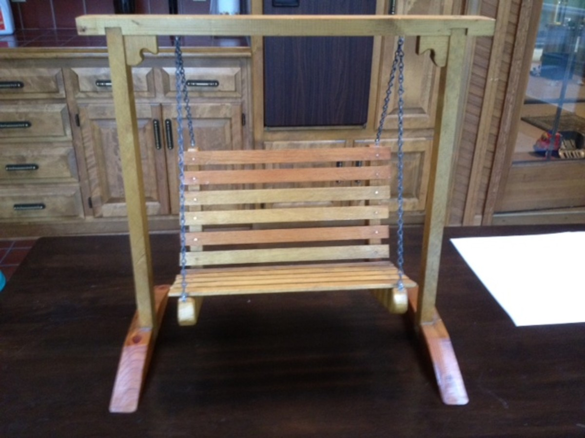 Finished mini porch swing