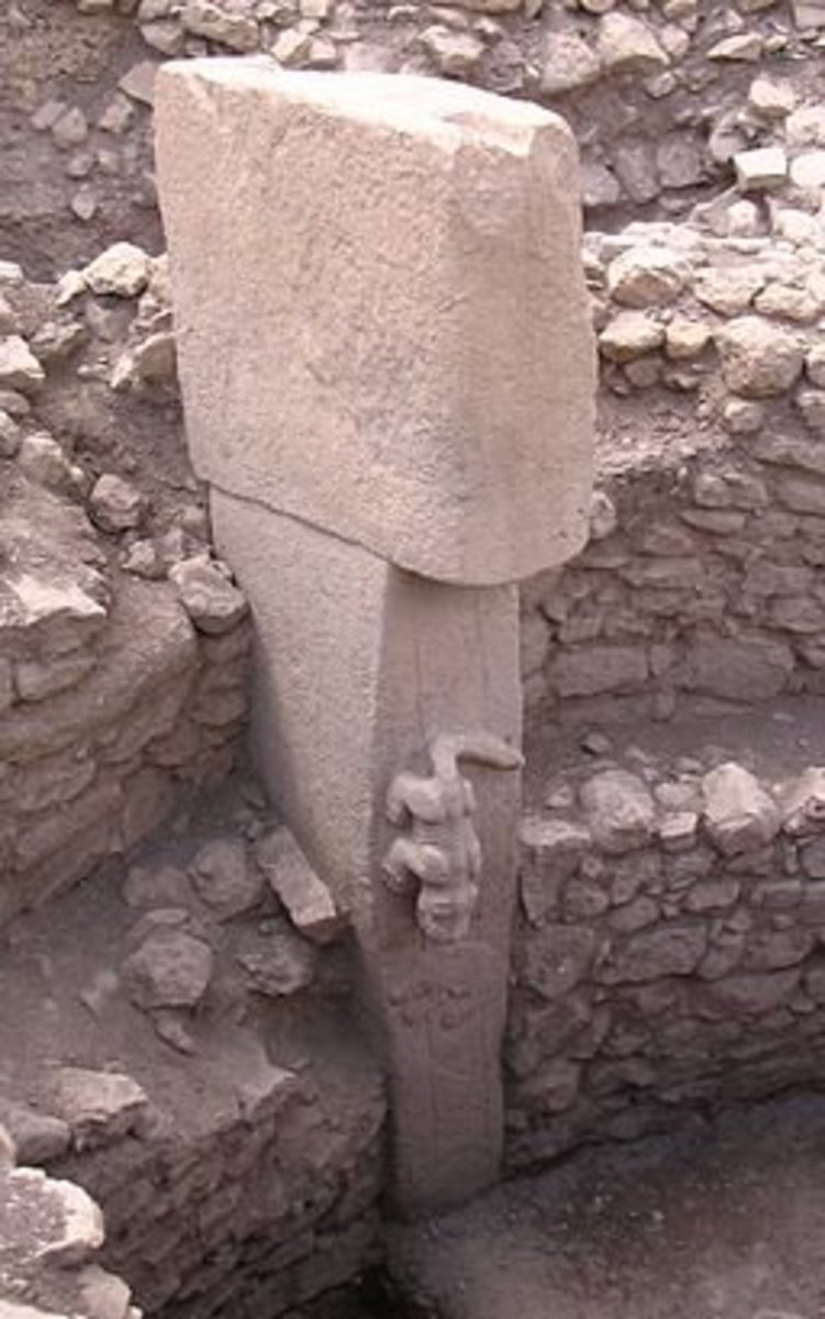 The pillars at Gobekli Tepe are up to 20 feet tall, and are adorned with animal sculptures.