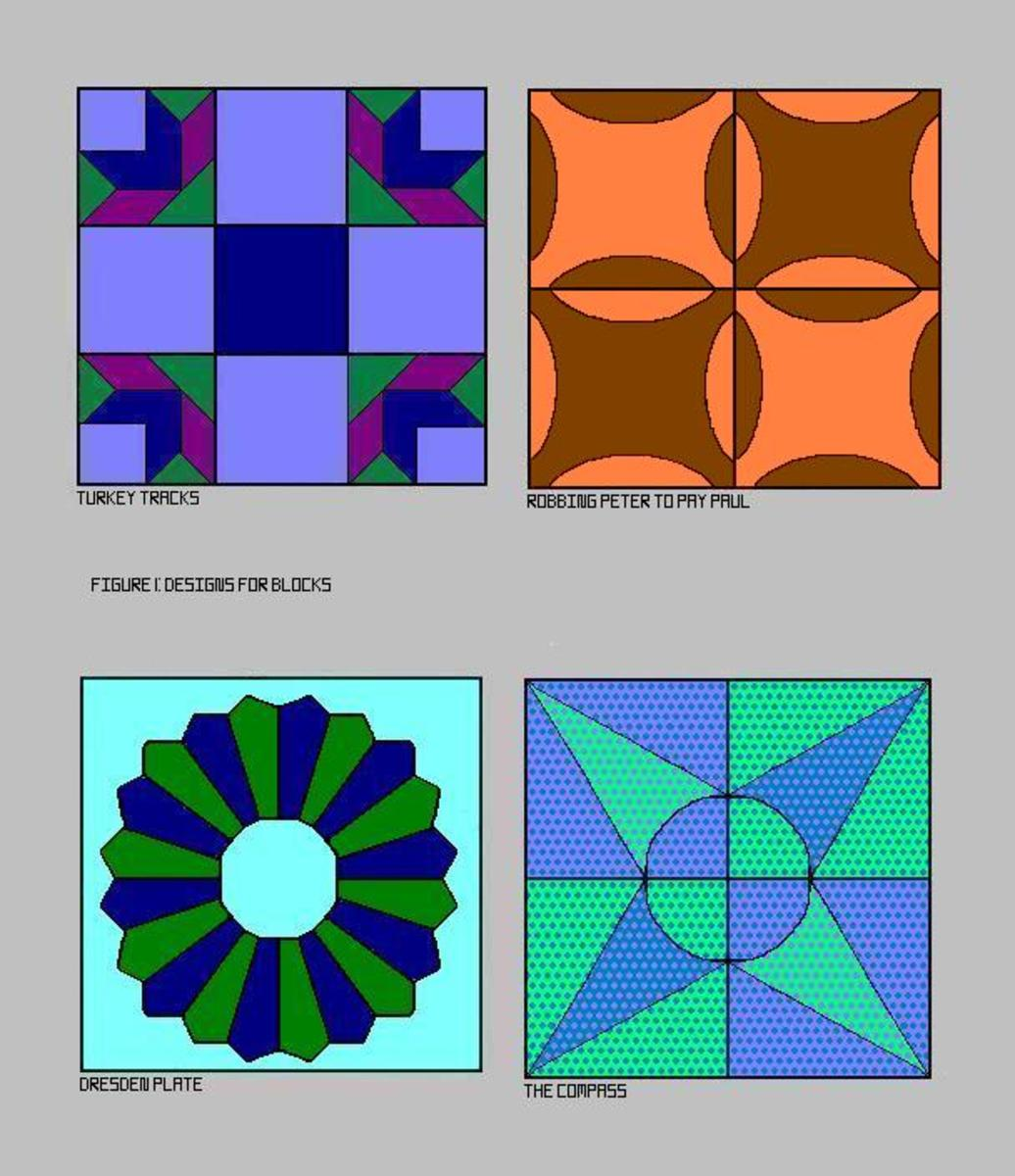 Four Traditional Designs for Blocks