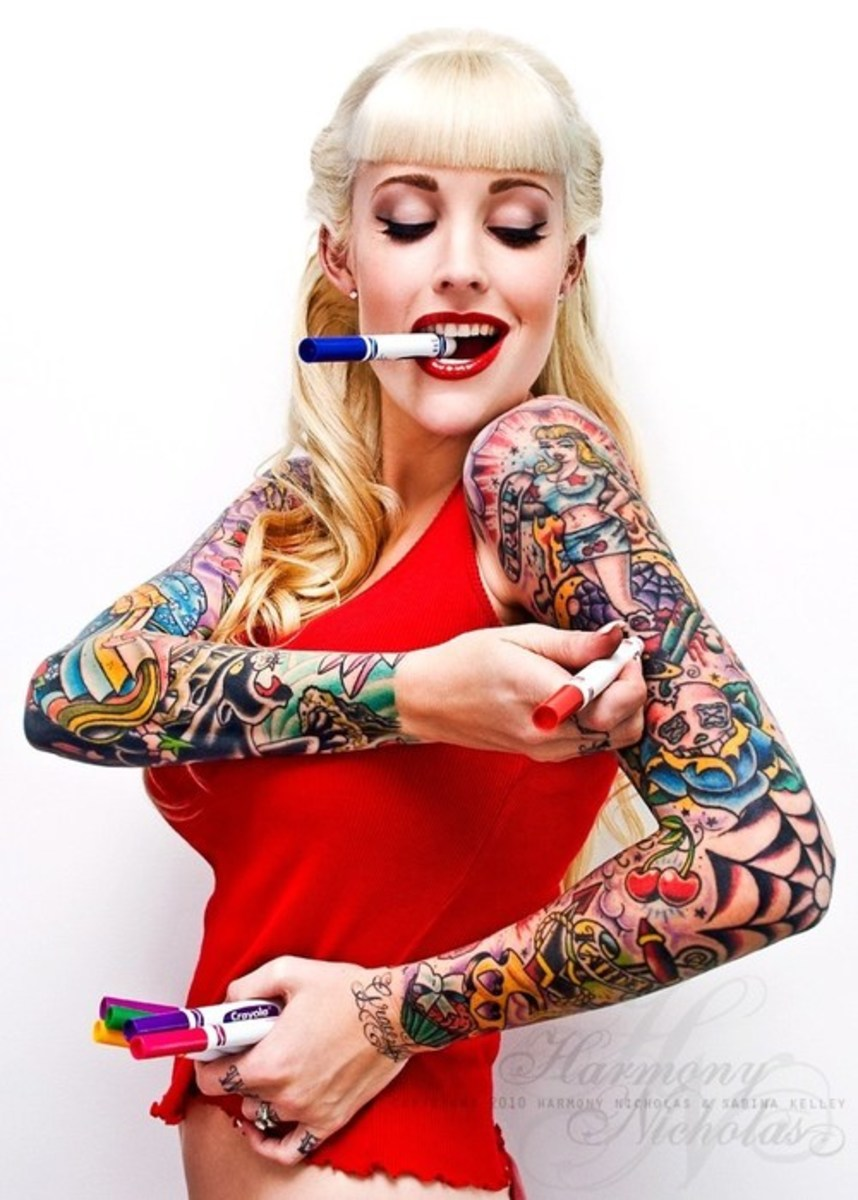 Female sleeve tattoos, to educate and inspire...