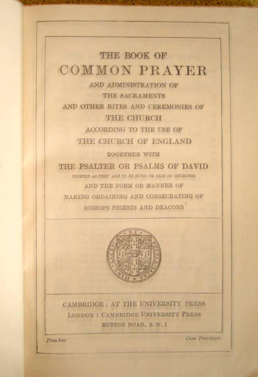 The English Book of Common Prayer