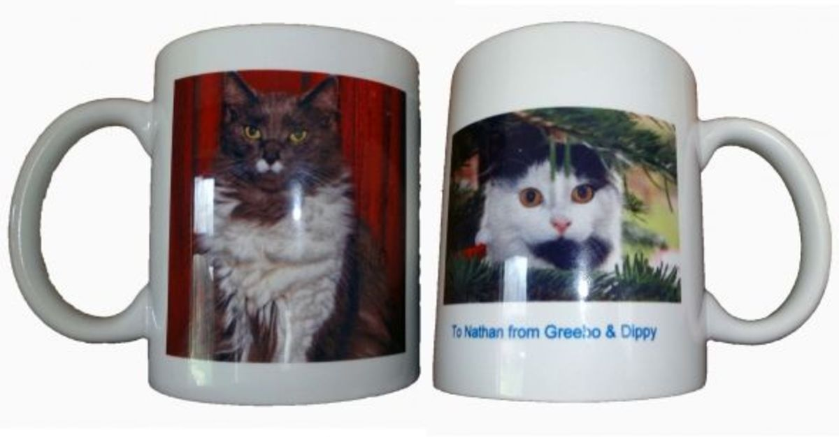 Greebo and Dippy Personalised Mugs