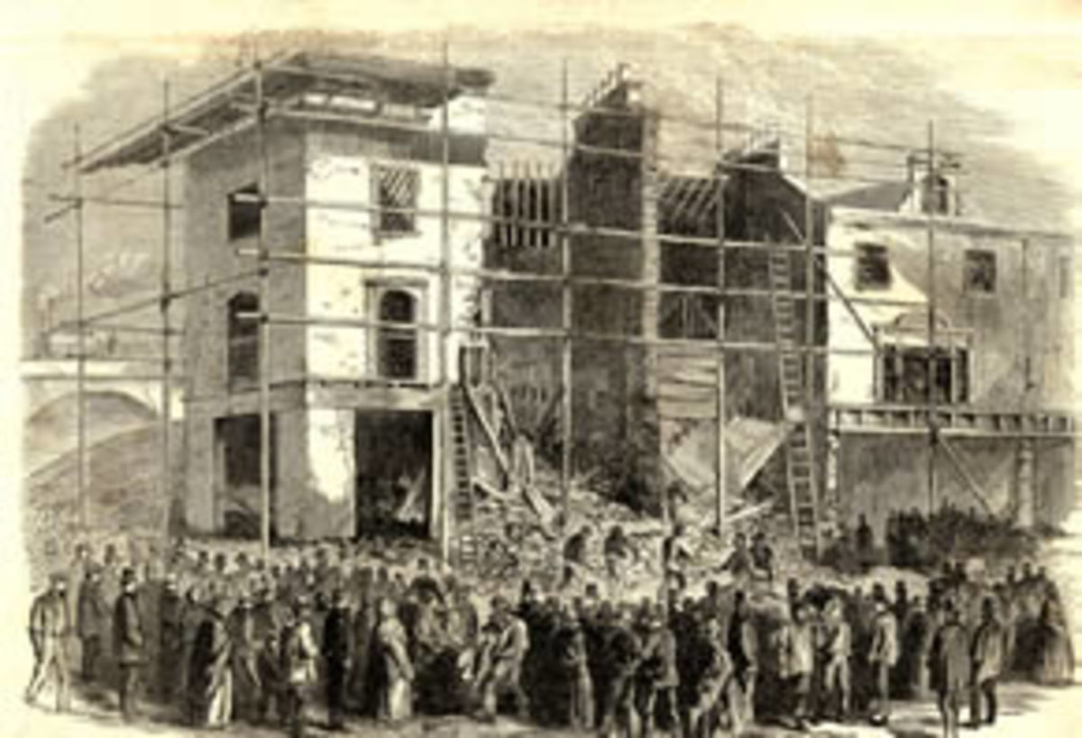 A jerry built house which had collapsed in London
