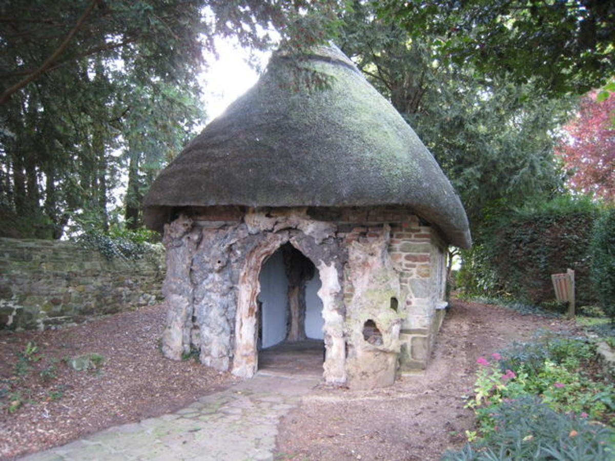 Temple of Vaccinia, Edward Jenner's building provided by the church to vaccinate the poor of his parish against disease.  He provided the service free.