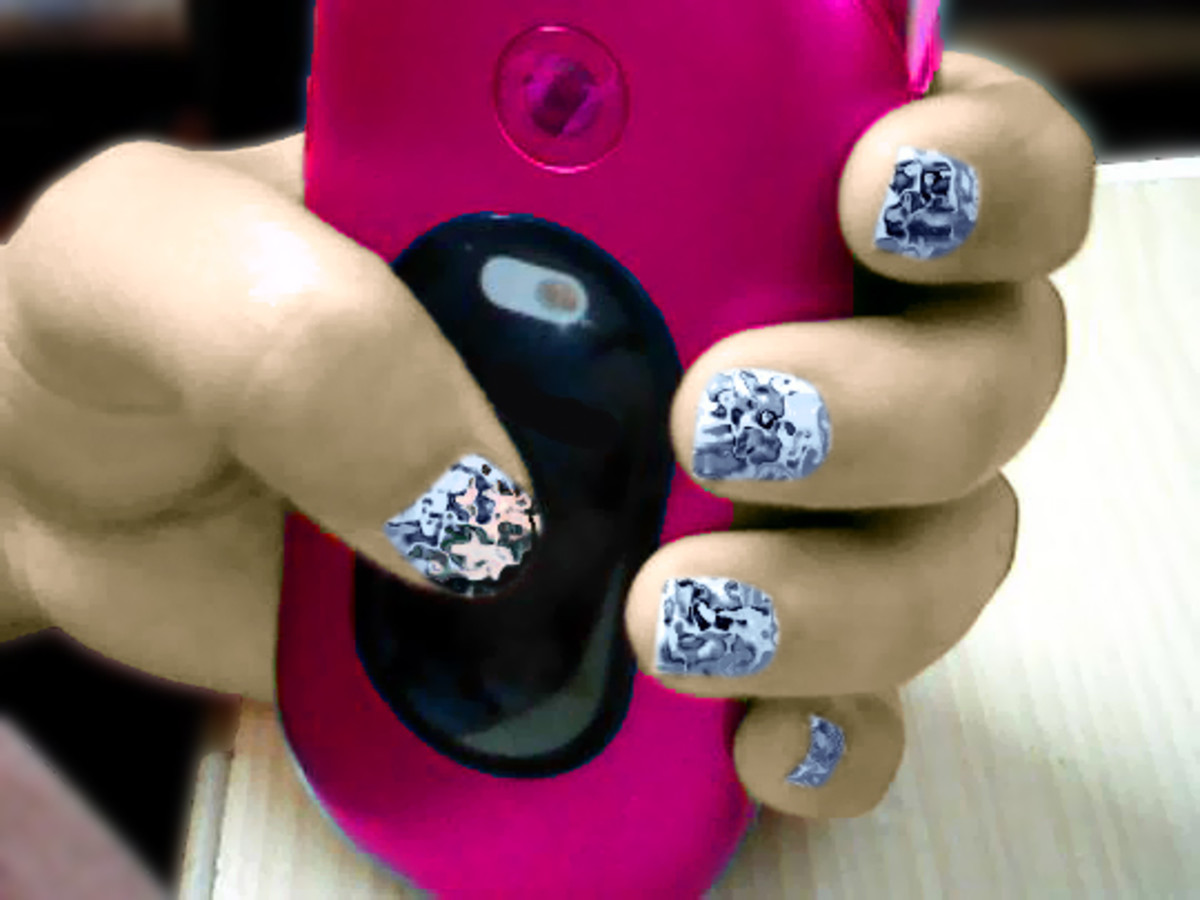 Nail art in Photoshop.