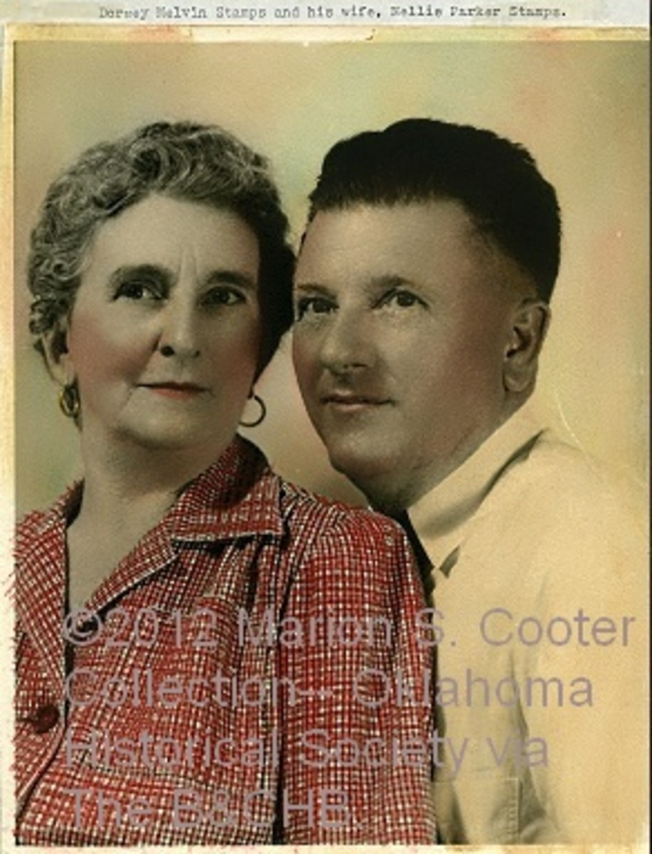Nellie and her husband, Melvin Stamps