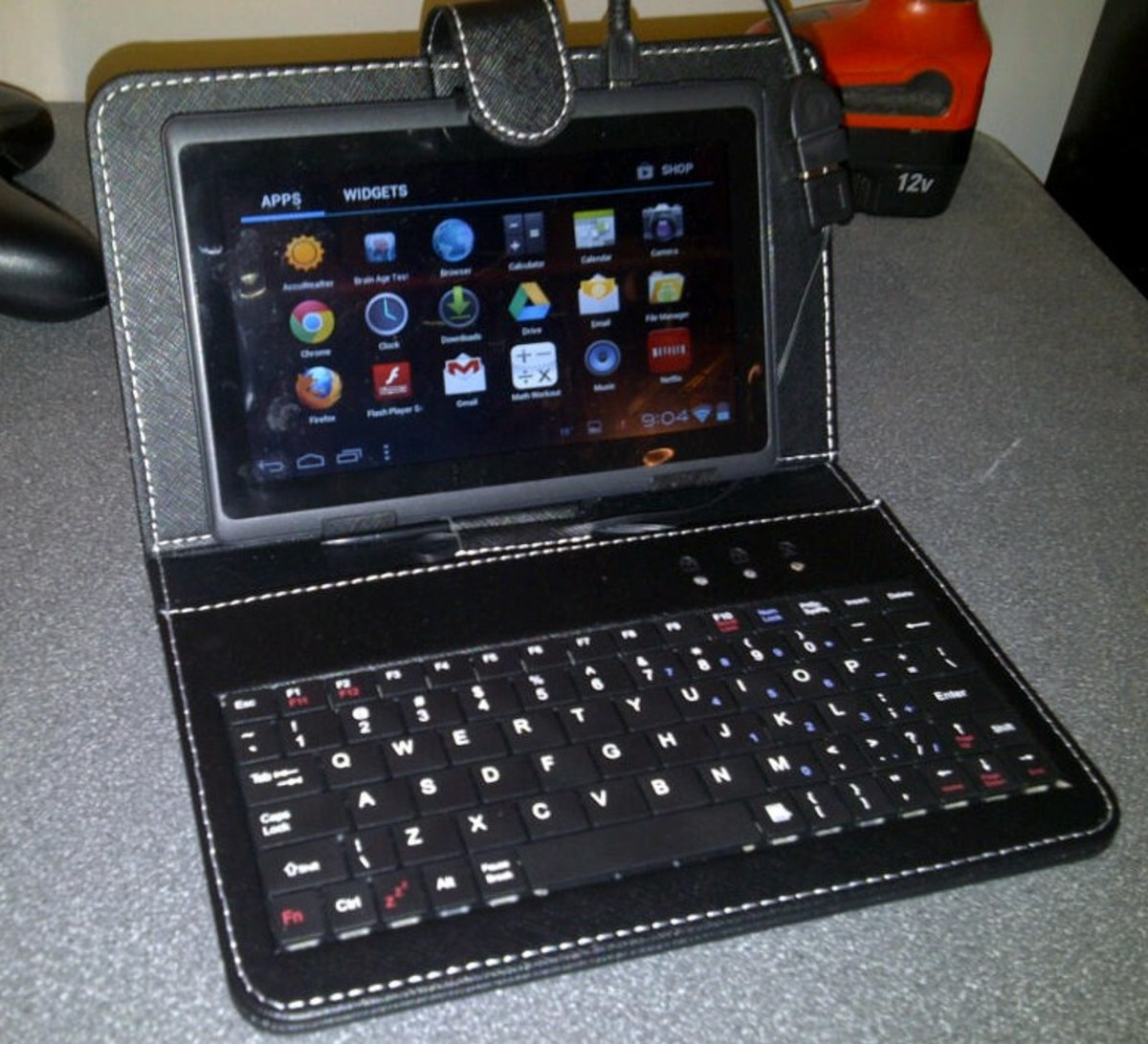 Android Tablet with USB keyboard for under $100: the USB keyboard/cover costs $12.97