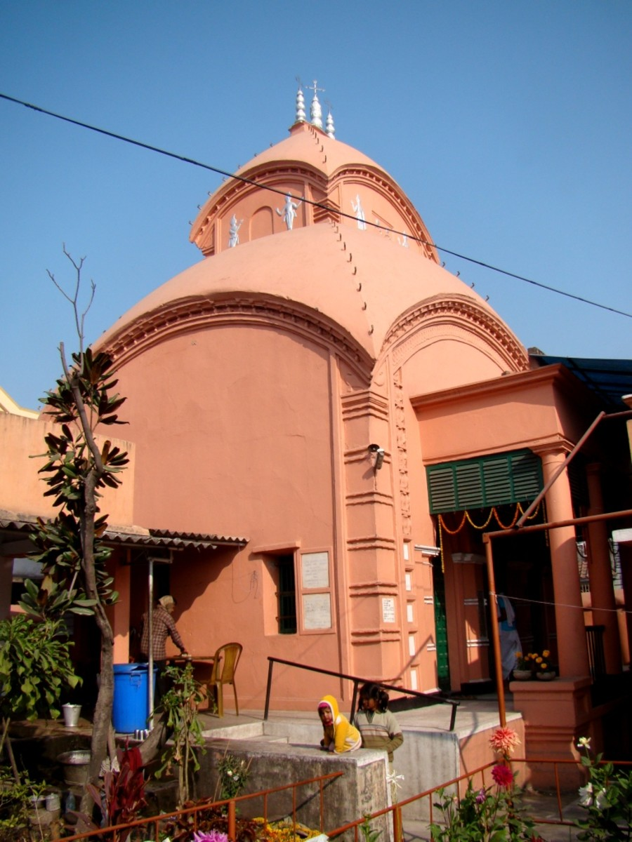 The Aatchala type Radhakanta Jiu temple, Khardah