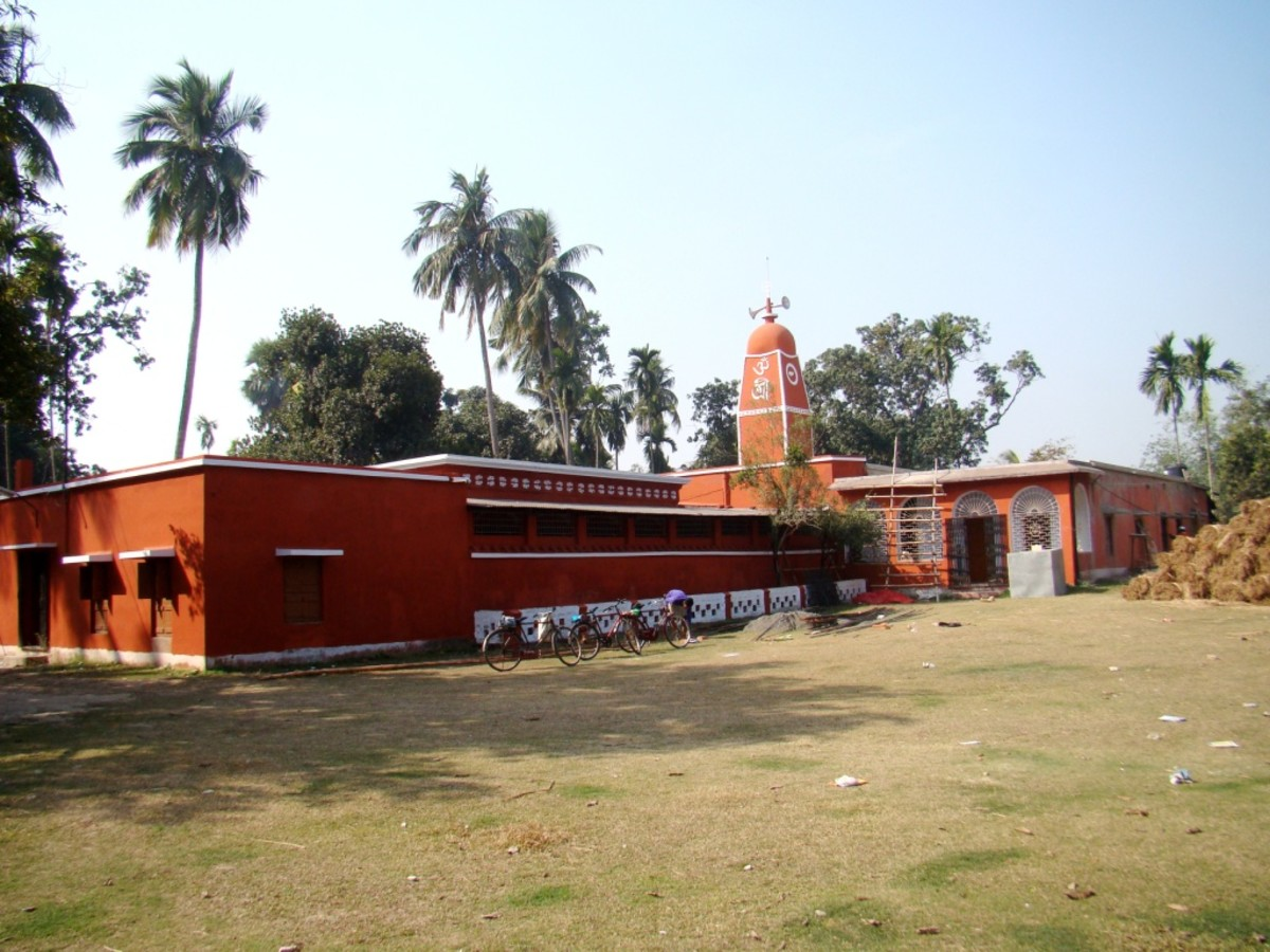The Nandadulal Jiu temple of Sainbona