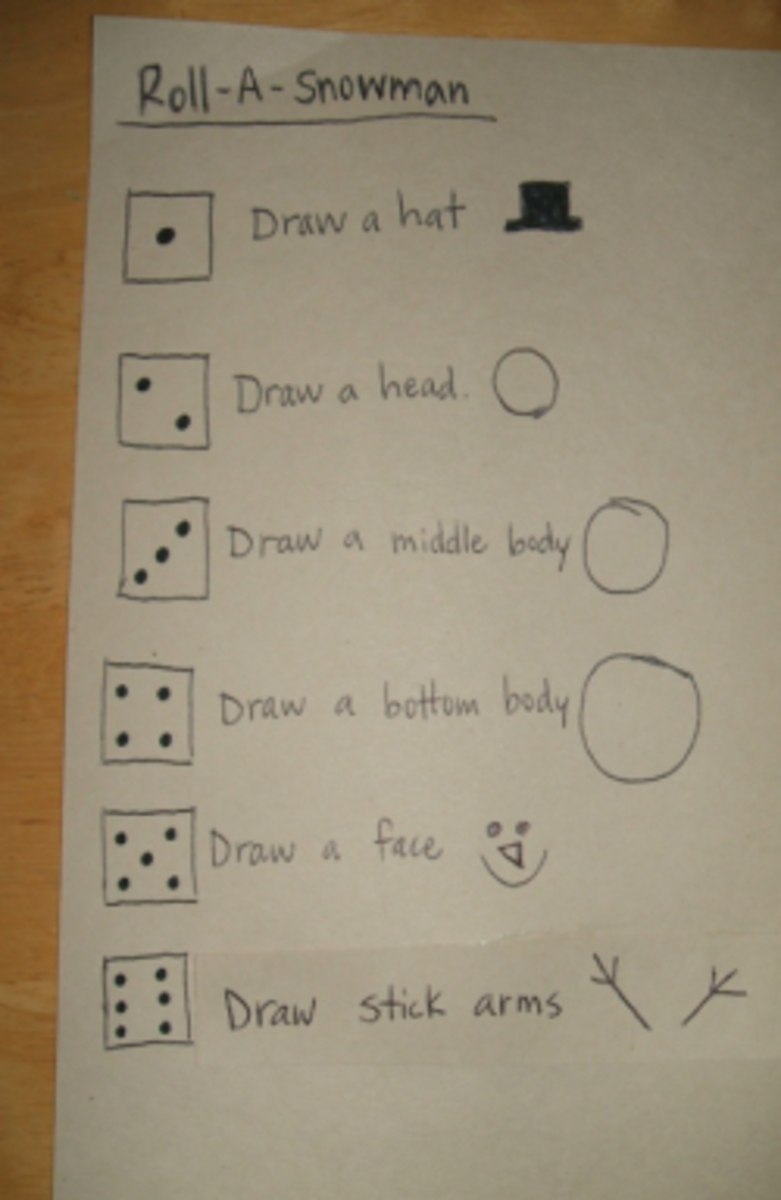 Snowman Draw Dice Game