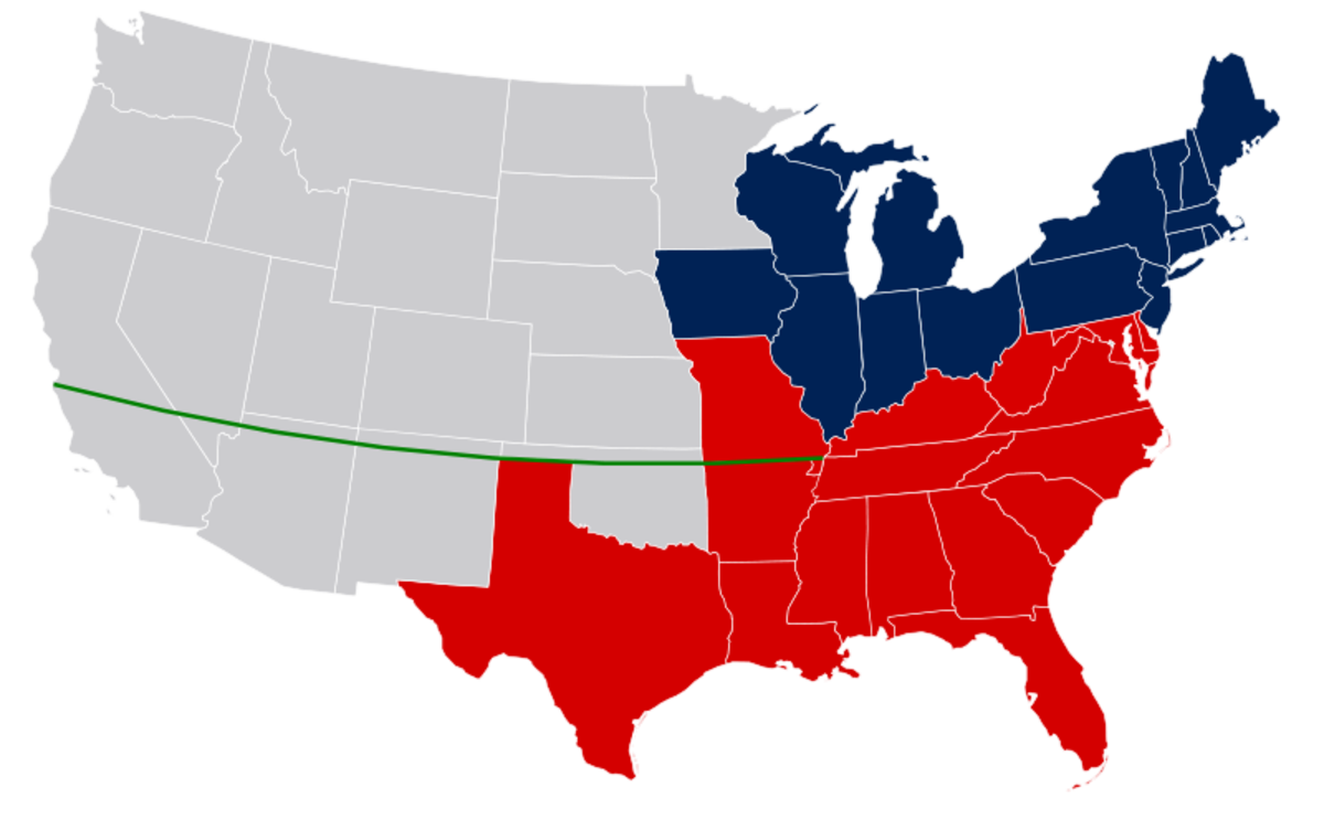 The map showing the Missouri Compromise Permission is granted to copy, distribute and/or modify this document under the terms of the GNU Free Documentation License, Version 1.2 or any later version published by the Free Software Foundation; with no I