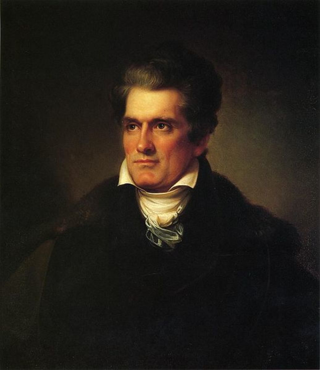 John C Calhoun  This work is in the public domain in the United States, and those countries with a copyright term of life of the author plus 100 years or less.