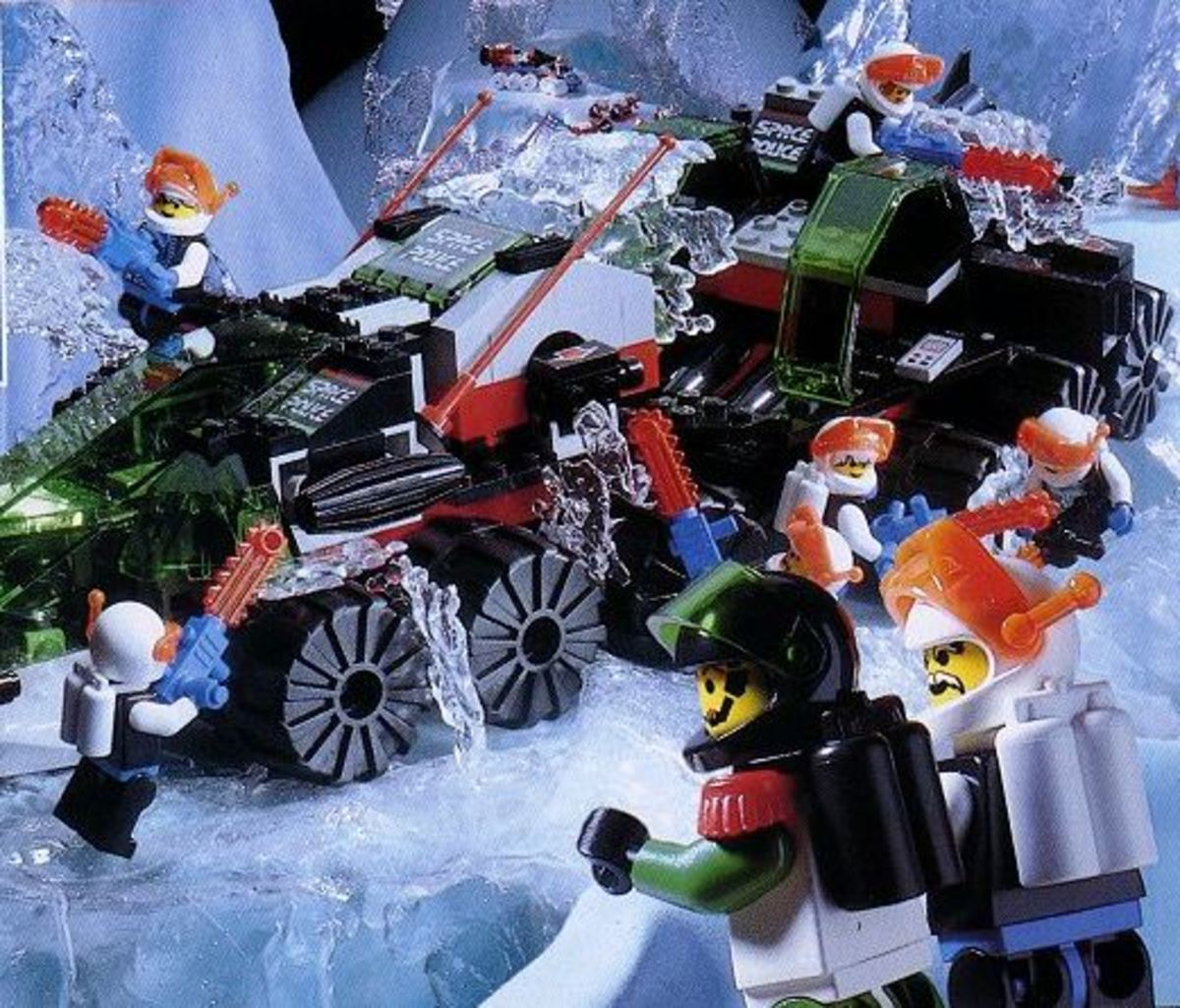 Commander Cold's forces assist in freeing a Space Police rover from the ice.