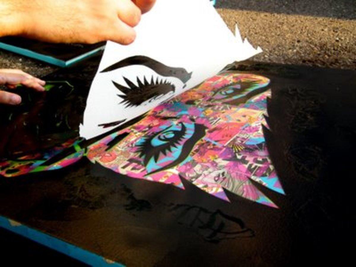 Paper Monster Stencil