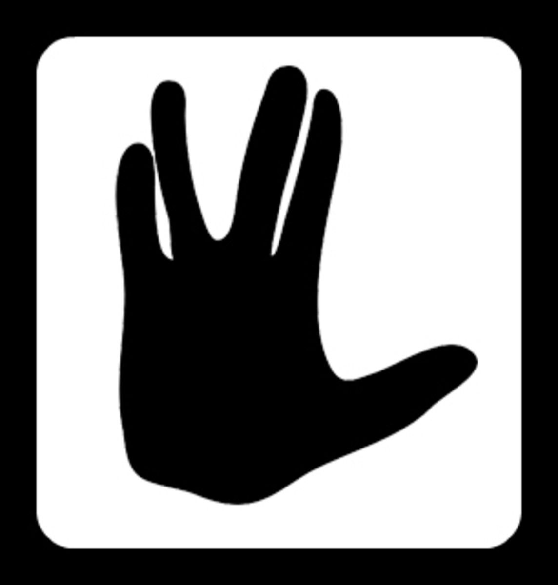 The vulcan salute, popularized by Leonard Nimoy of Star Trek Fame, another form of respect.