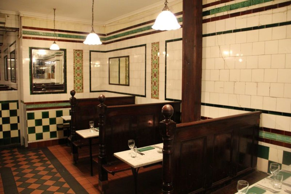 Inside Lanze Pie and Mash shop