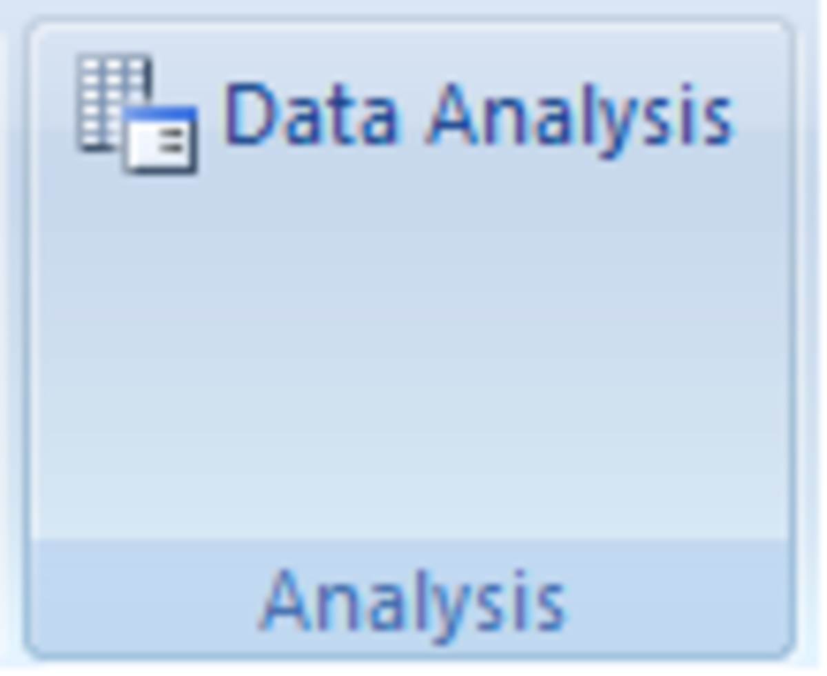 The Analysis ToolPak button shown in Excel 2007.