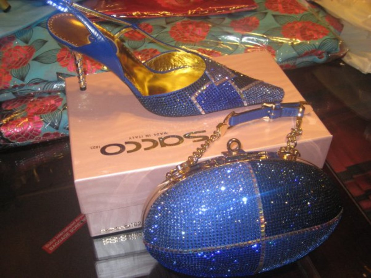 """Owambe"" Party Shoes Sets With Matching Bags"