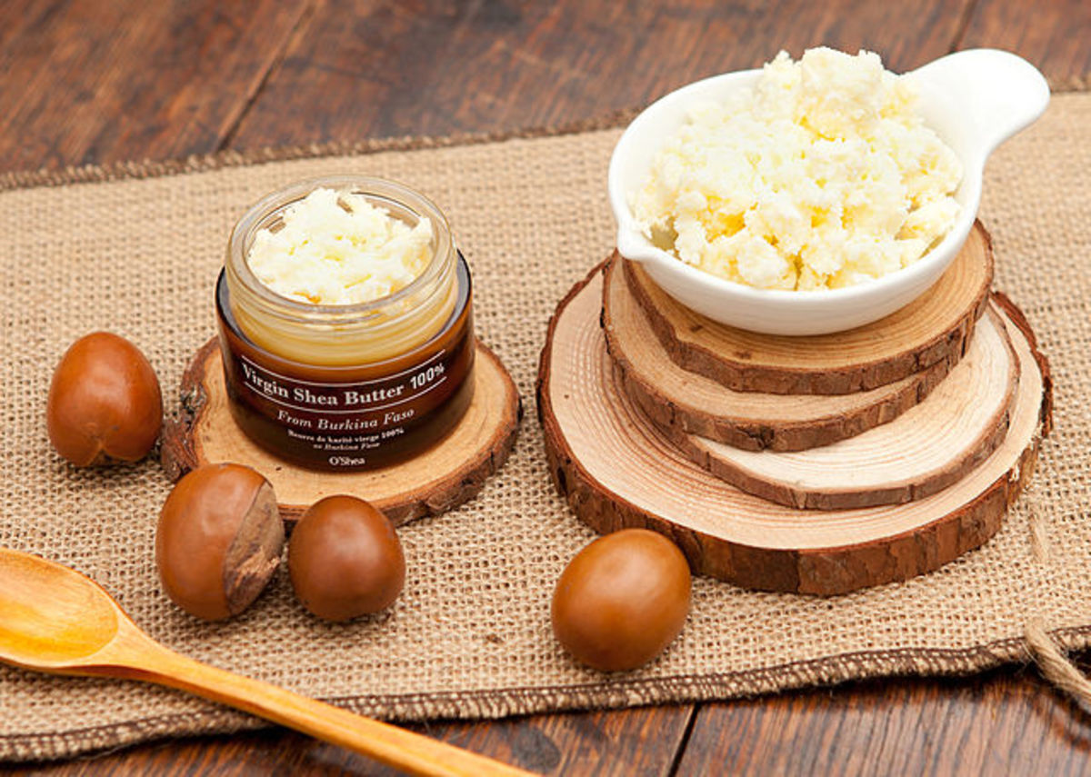 Shea butter begins as a nut and ends as unrefined shea butter.