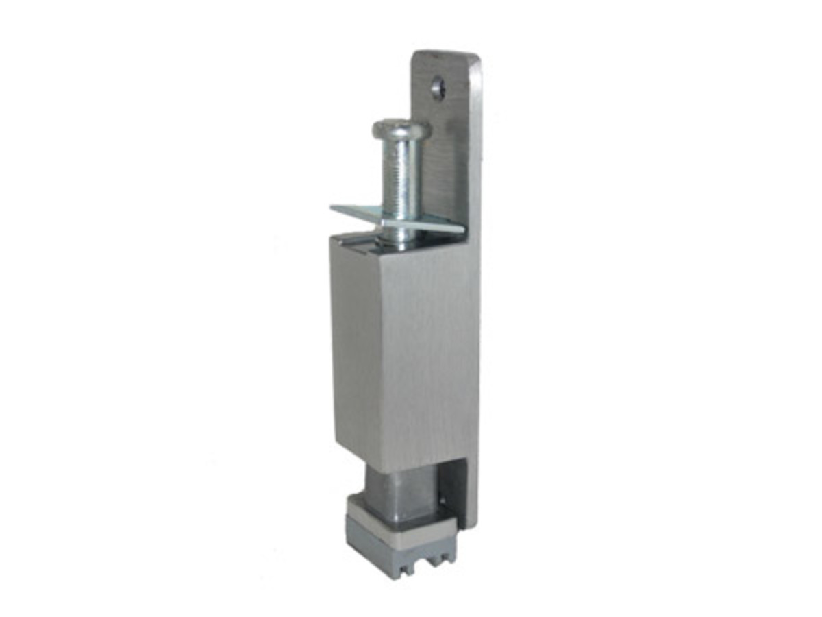 Ives FS153 plunger type door holder.   image source:  www.monstermarketplace.com