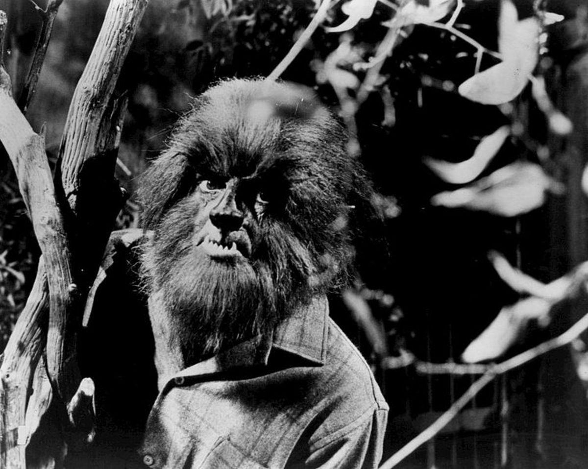 Alex Stevens as a werewolf from Dark Shadows