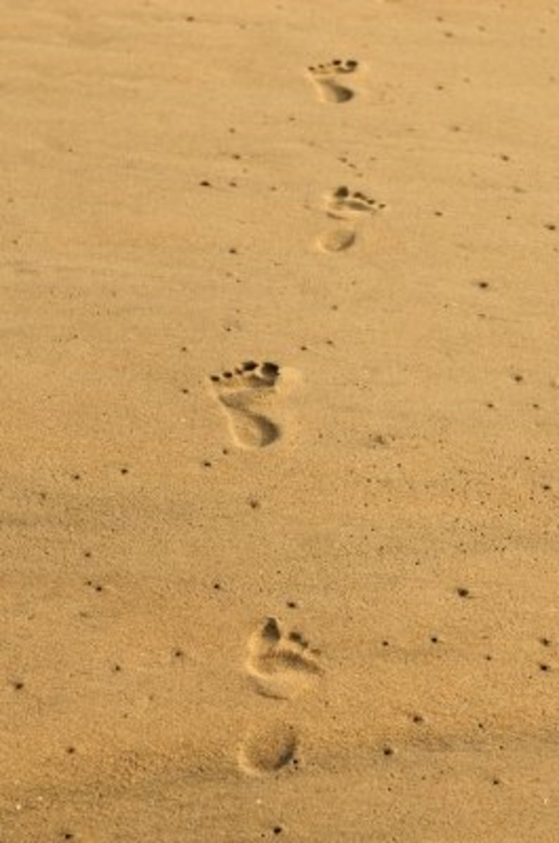 Footsteps on the sand - Corns affect thousands of people all over the world.