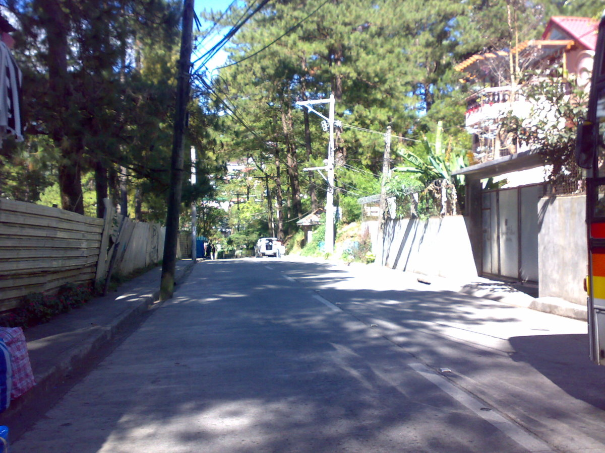 My photograph of a street in Baguio City, the Summer Capital of the Philippines