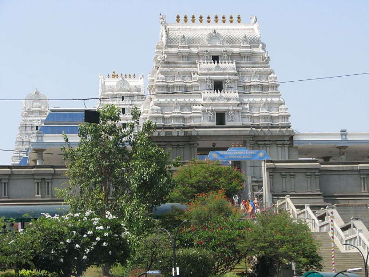 ISKCON, The Krishna temple in Bangalore, India