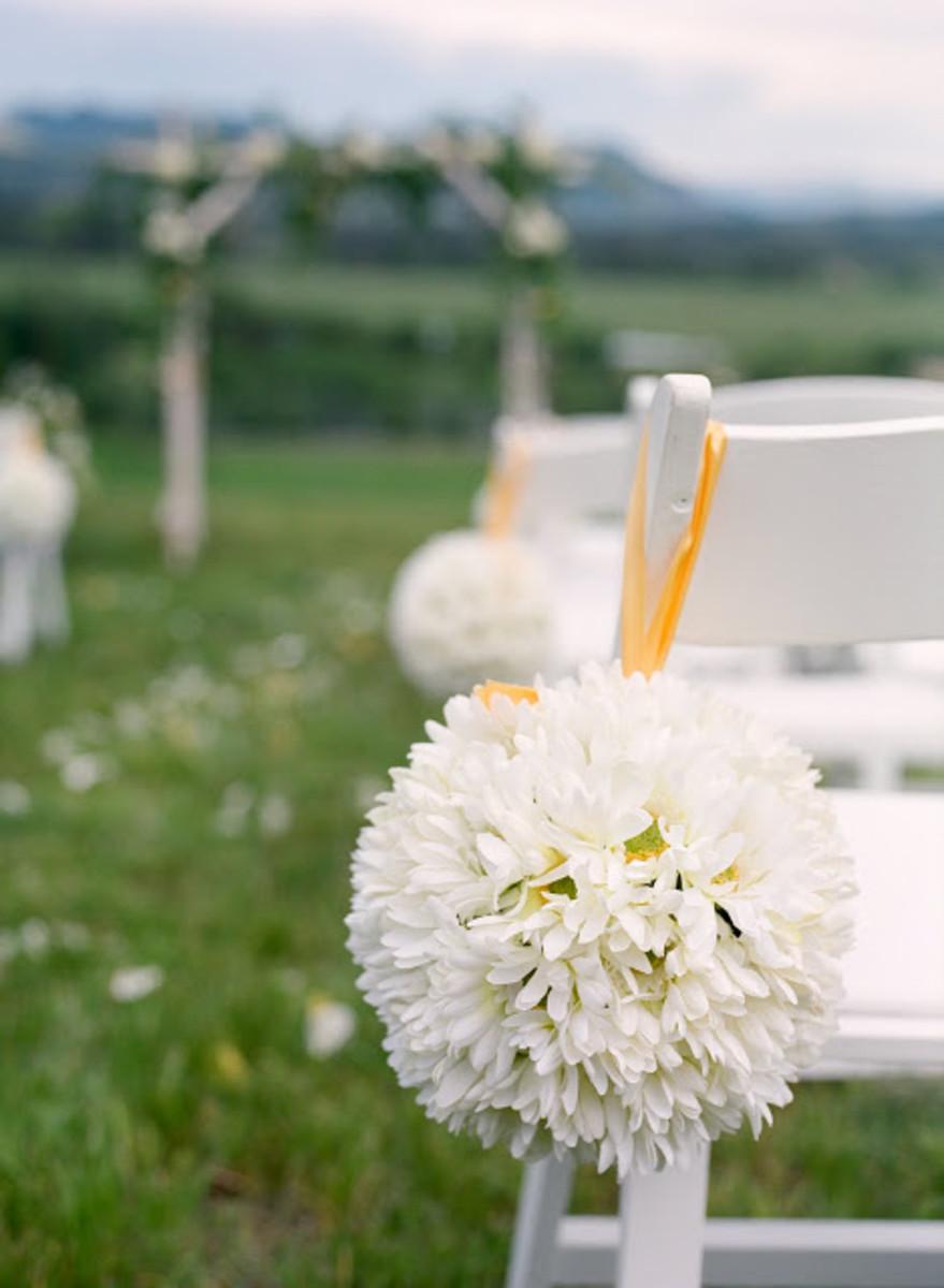 Wedding Flower Pom Decorations