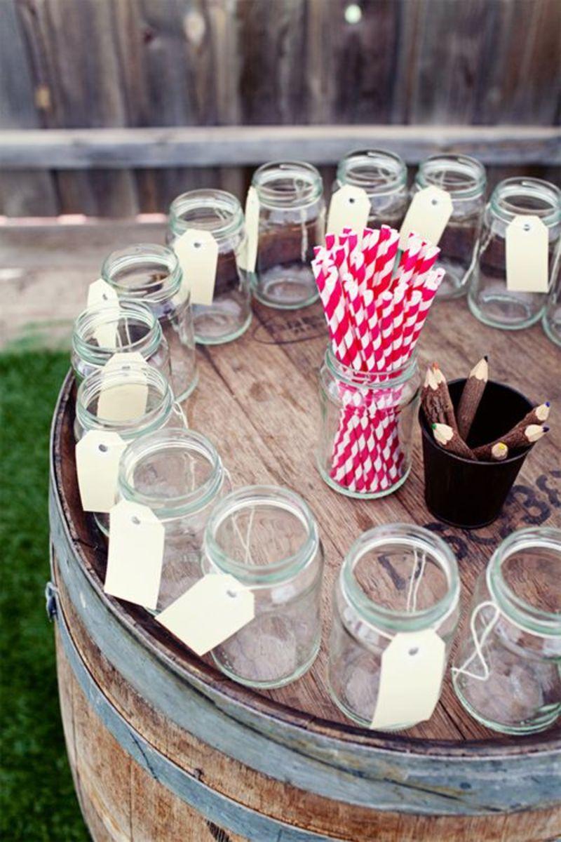 DIY Rustic Wedding Mason Jar Drinks